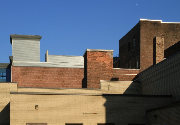 Afternoon shadows in downtown Schenectady